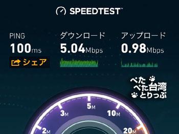 新光三越無料Wi-Fiの通信速度