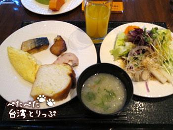 ホテルロイヤル台北 朝食 ビュッフェ