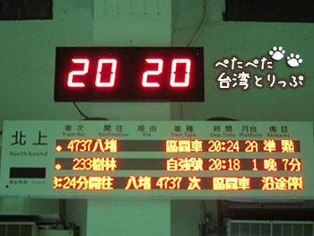 九份から台北 電車