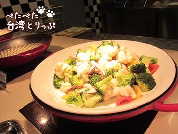 シーザーパーク台北 朝食 ライトアップ