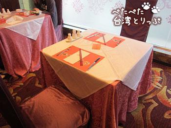 コスモスホテル台北 朝食 席