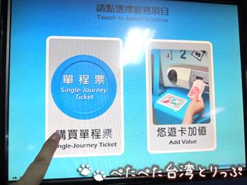 地下鉄券売機の初期画面