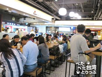 台北駅地下 小南門の飲食コーナー