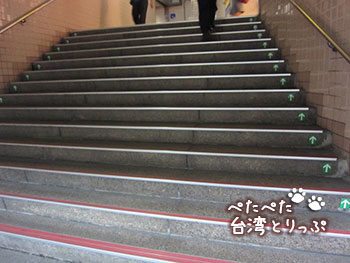 シーザーパーク台北への行き方 台北駅M6番出口から