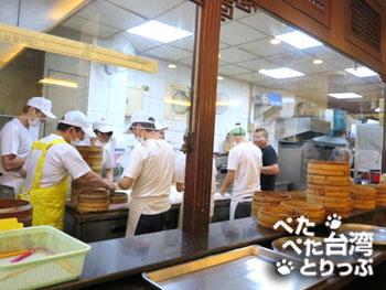 杭州小籠湯包 本店の厨房