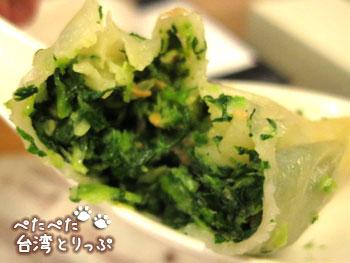 金品茶樓の花素蒸餃(中身)