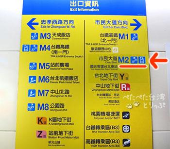 台北駅 国光客運バスターミナルを案内する看板