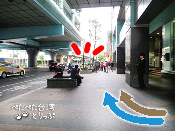 忠孝復興駅1062バス乗り場