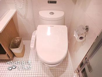 ダンディホテル大安森林公園店のトイレ