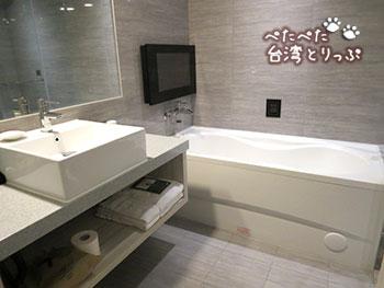 グリーンワールドホテル忠孝・洛碁大飯店忠孝館のお風呂