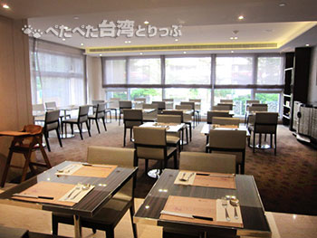 Kホテル台北松江館の朝食会場