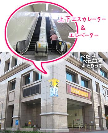 Kホテル台北松江館への行き方 MRT行天宮2番出口から