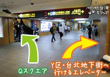 Qスクエア台北へのアクセス