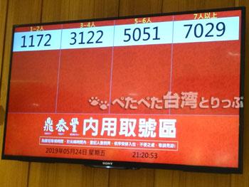 鼎泰豐南西店の呼び出し番号
