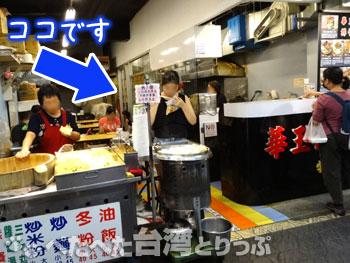華王排骨の飲食コーナー(場所)
