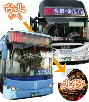 台湾・台北から九份への行き方 バス編
