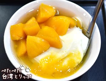 古早味豆花の「芒果豆花」