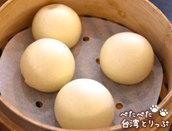 杭州小籠湯包の奶黄包(クリーム饅)