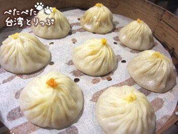 済南鮮湯包の蟹味噌小籠包