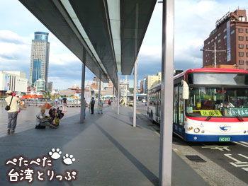 基隆駅バスターミナル(基隆駅のバスターミナルから基隆廟口夜市への行き方)