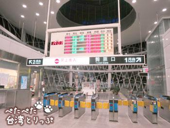 基隆駅の改札(基隆廟口夜市から基隆駅への行き方)