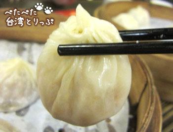 盛園絲瓜小籠湯包の上海小籠湯包はスープたっぷり