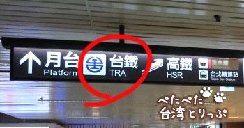 台北から九份への電車での行き方 ホームへ