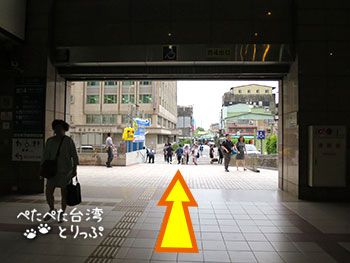 シーザーメトロ台北 龍山寺駅までのアクセス