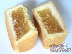新東陽のパイナップルケーキ(断面)